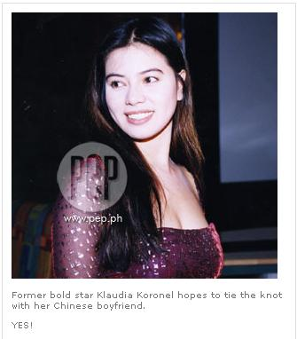 Former actress Klaudia Koronel found love through cyberspace