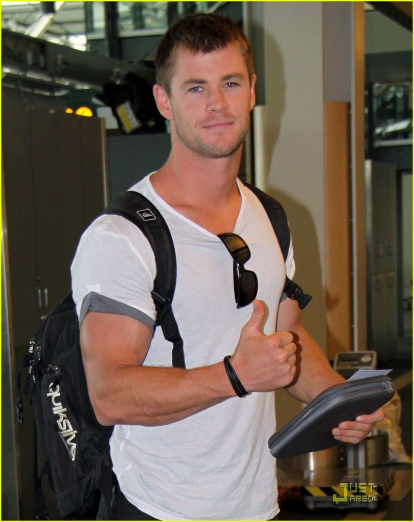 chris hemsworth  thunder god
