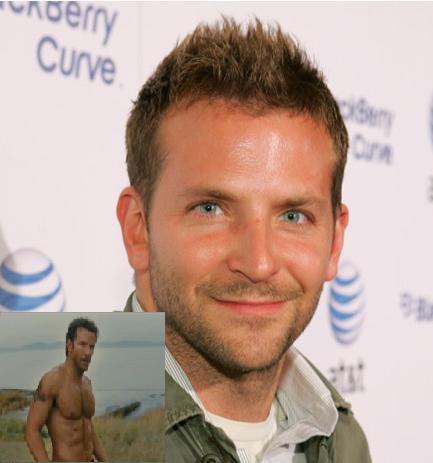 Male Celebrities on Bradley Cooper     Ripped And Shirtless For A Team   Chizmizan With