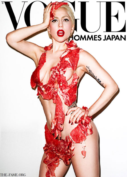 lady gaga meat dress real. Lady Gaga#39;s Meat Dress – Yay