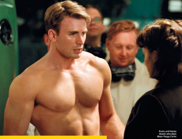 First Photos of Chris Evans as Captain America Revealed