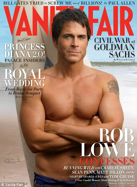 rob lowe shirtless vanity fair. I will never get over Rob Lowe