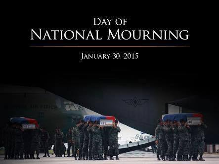 Netizens, outraged over PNoy's absence at Villamor Air Base - National Day of Mourning.