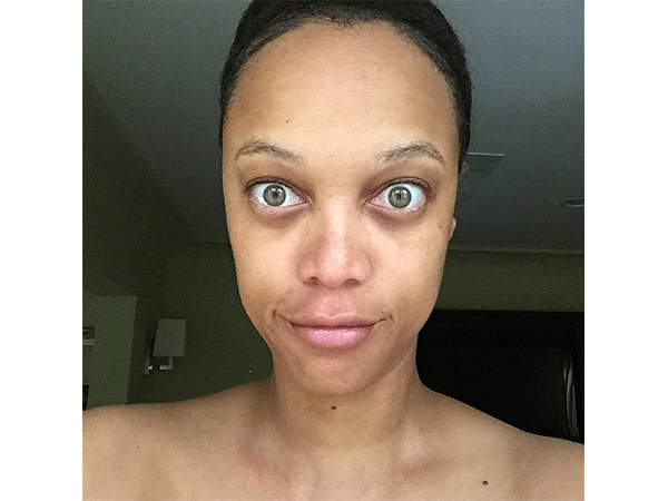 Tyra Banks Posts Unfiltered Selfie.  #nofilter